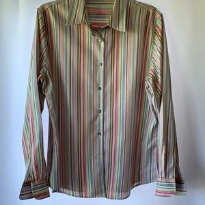 Foxcroft size 12 long-sleeved wrinkle-free shaped fit blouse
